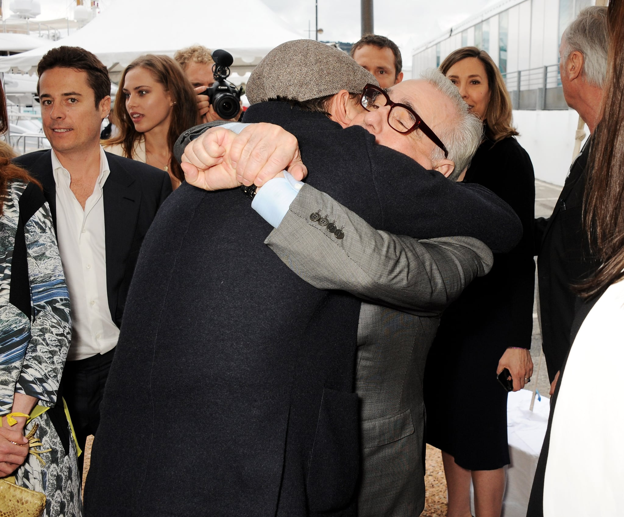 Leonardo DiCaprio hugged Martin Scorsese at a special event for Silence.