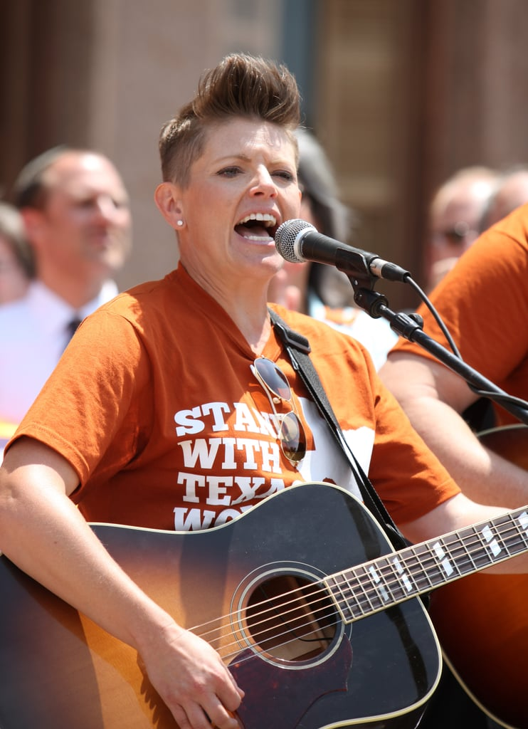 Natalie Maines of The Dixie Chicks performed the national anthem.