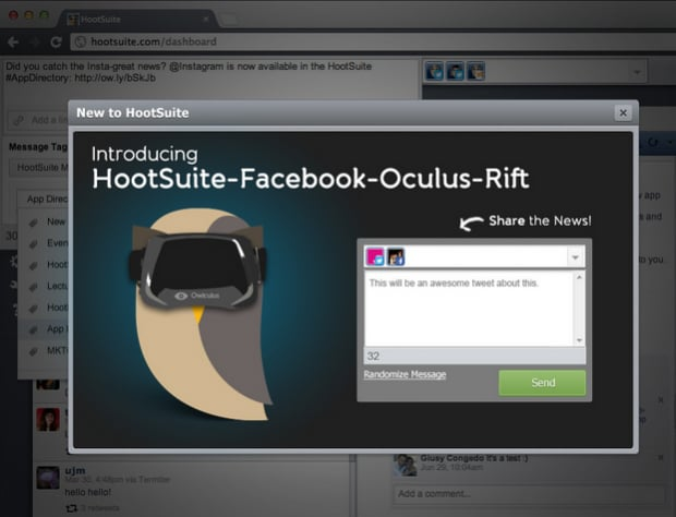 HootSuite's Virtual Reality Dashboard