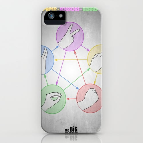 Show off your rock, paper, scissors, lizard, Spock skills with this iPhone case ($35).