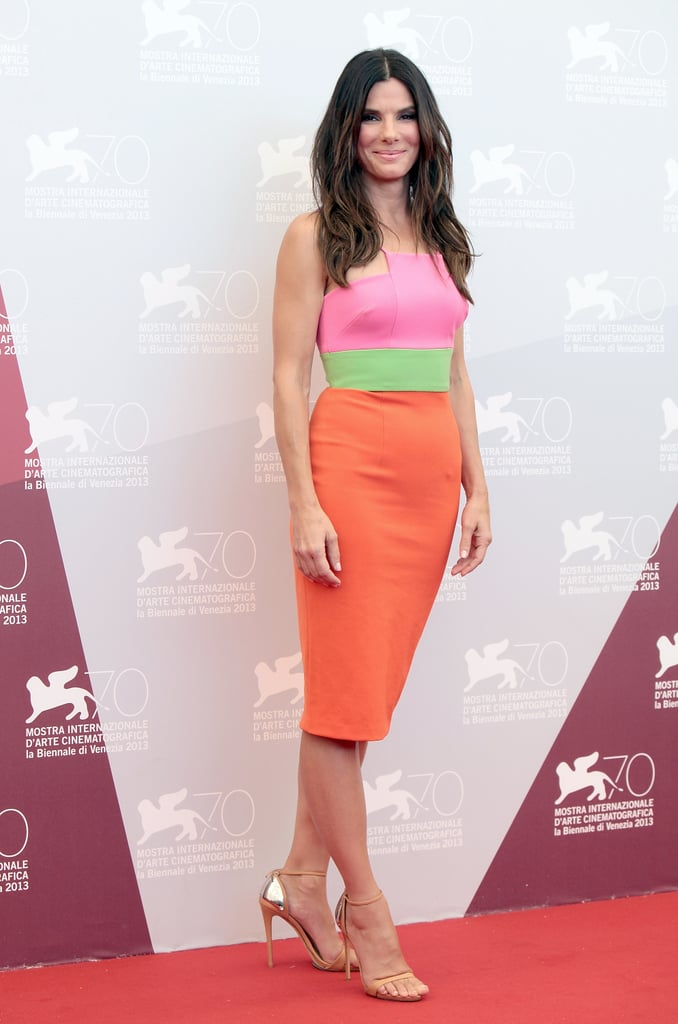 We loved Sandra Bullock's neon turn in Venice and you did, too — a whopping 96 percent said they like the bright look over her regular black.