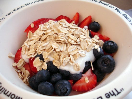 Healthy Eating Tip: Top Yogurt With Rolled Oats