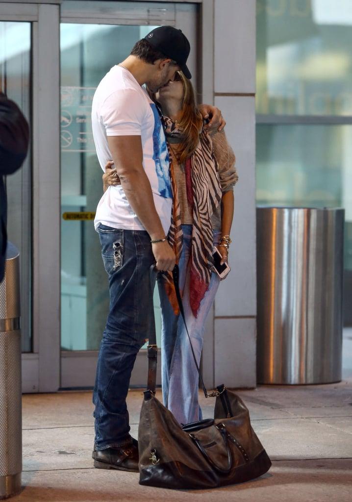 Sofia Vergara and Joe Manganiello shared a kiss in Miami on Thursday.