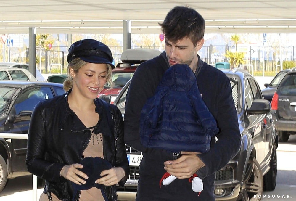 Gerard Piqué dropped Shakira and their son, Milan, off at the airport in Barcelona.