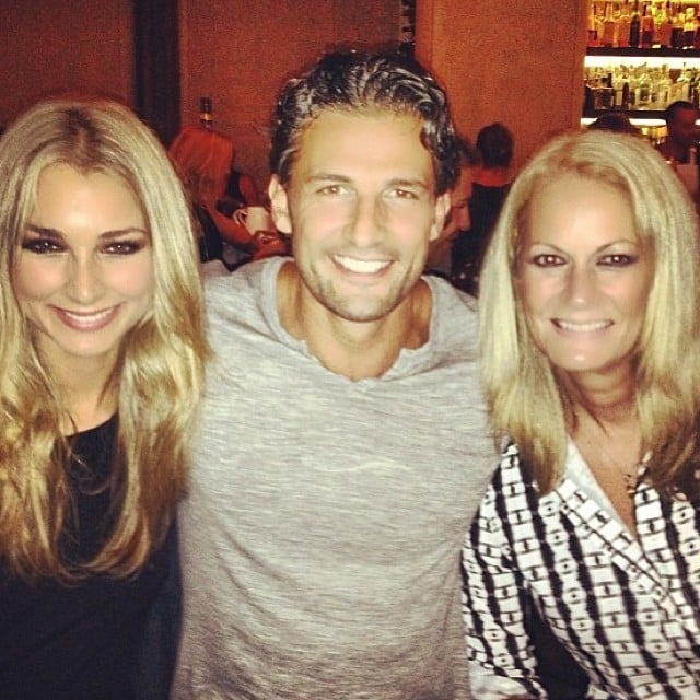 "Tim sandwiched between his ""two new favourite women"": girlfriend Anna and her mother. Source: Instagram user mrtimrobards"