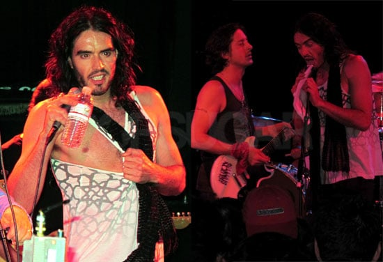 Pictures of Russell Brand and Carl Barat Performing as Infant Sorrow in Hollywood for Get Him to the Greek
