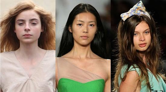 Minimal Makeup at 2010 Spring Fashion Week