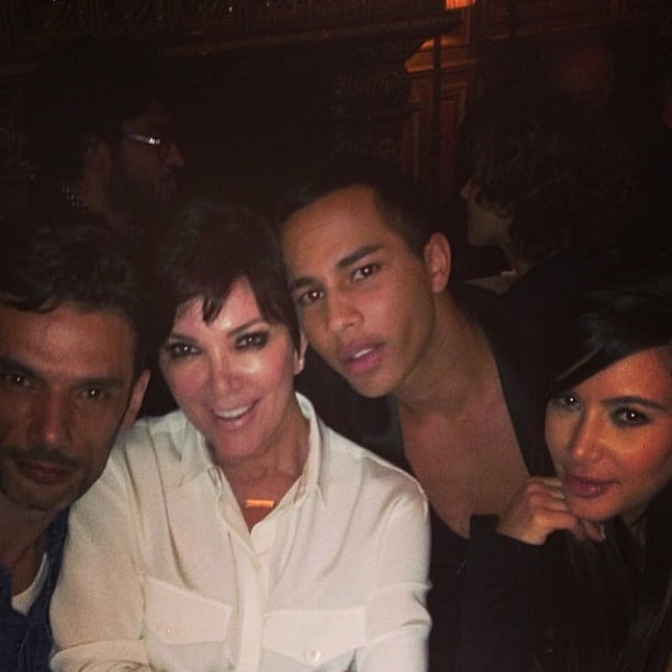 Kim Kardashian travelled to Paris with her mother, Kris, and some friends. Source: Instagram user kimkardashian