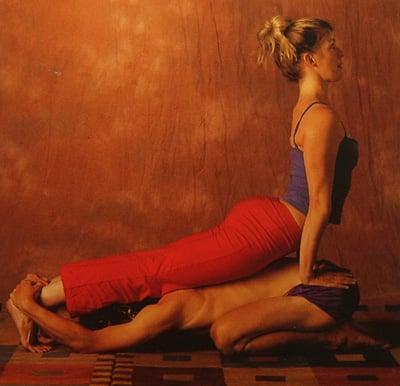 Partner Yoga Pose: Child Cobra