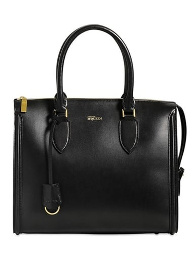 Heroine Brushed Leather Zip Up Tote Bag