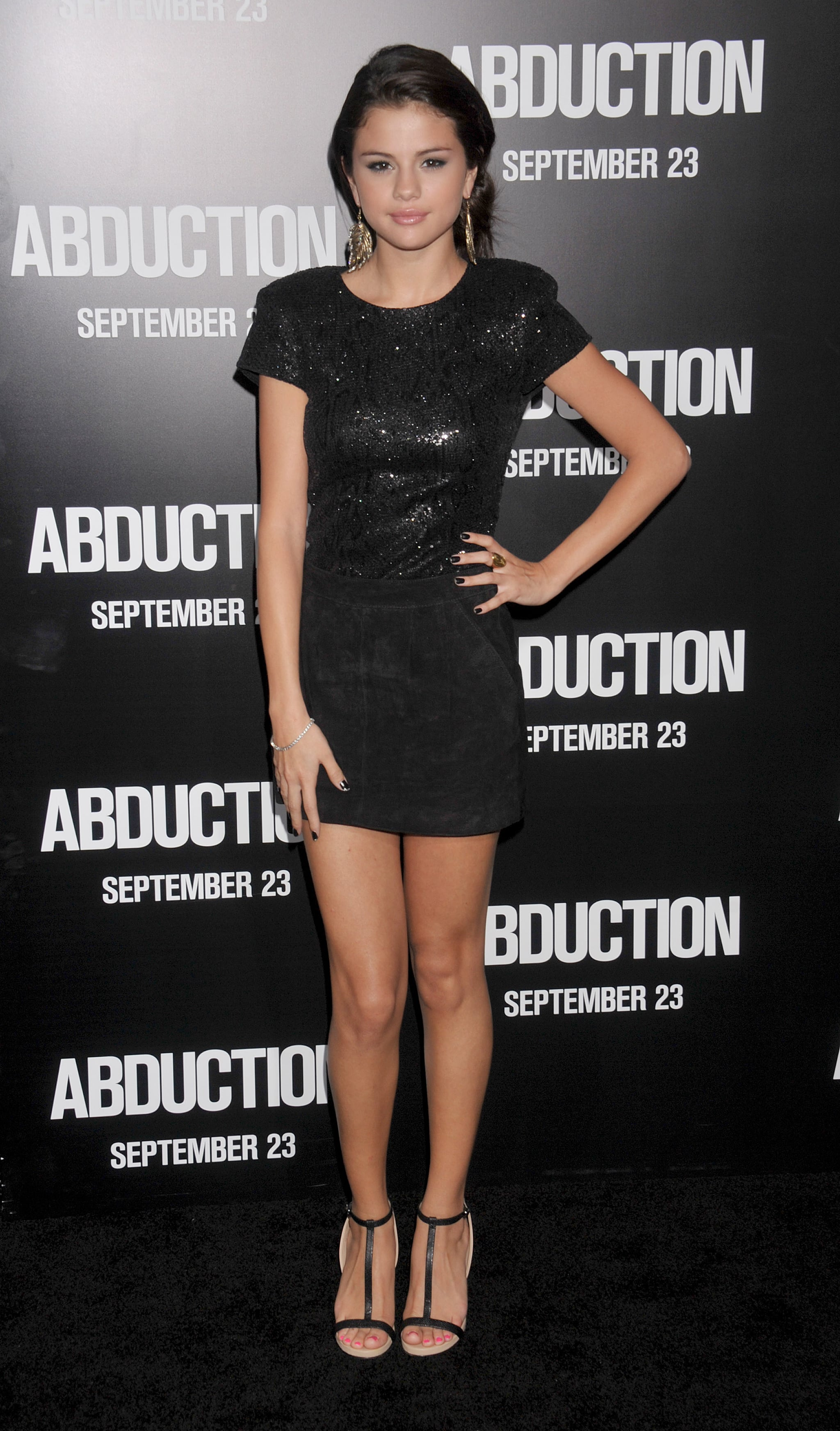 Selena sparkled in a sleek black minidress for the premiere of Abduction in 2011.