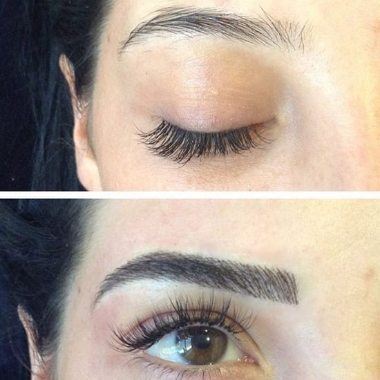 Before and After Microblading Eyebrow Tattoos