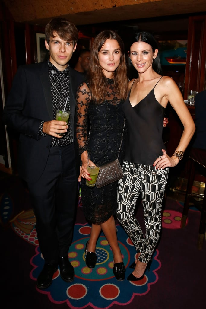On Wednesday, Keira Knightley and James Righton linked up with Liberty Ross at the launch of her new denim line, GENETIC X Liberty Ross, in London.