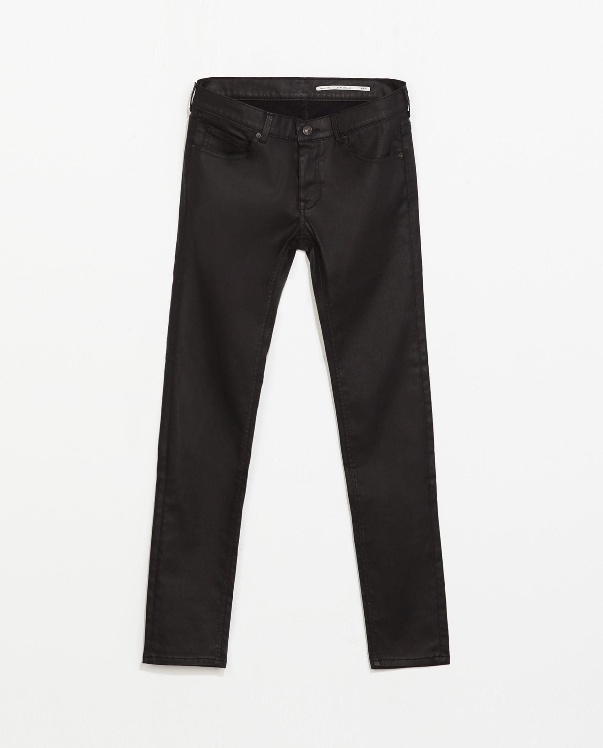 Zara coated trousers ($70)