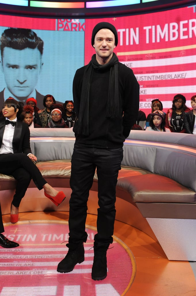 Justin Timberlake visited BET's 106 and Park to promote his upcoming album, The 20/20 Experience.