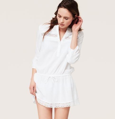 Loft Lace Trim Shirtdress