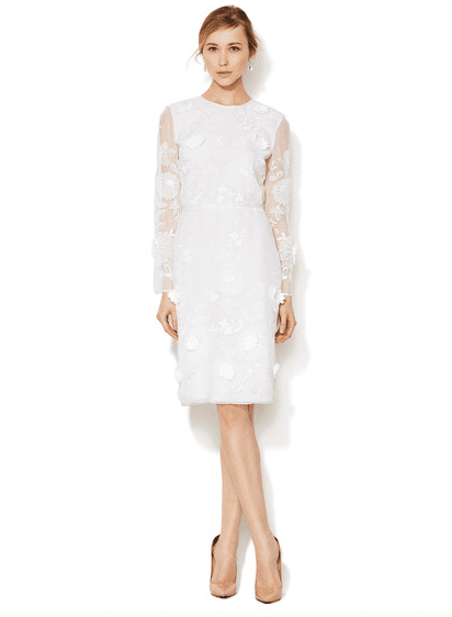 Valentino's embroidered dress ($1,499, originally $4,980) is a unique option for the less traditional bride.