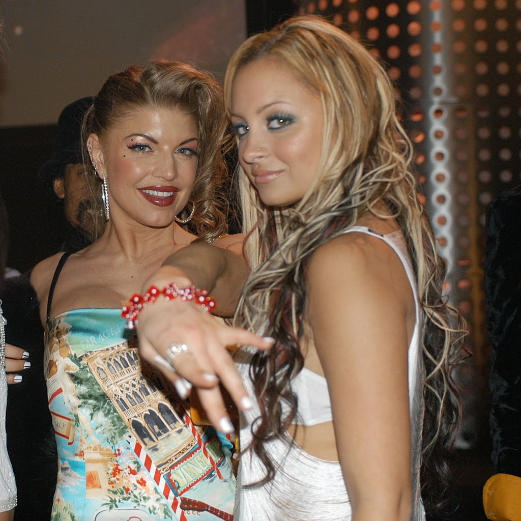 Nicole Richie met up backstage with Fergie at the December 2003 Billboard Music Awards in Las Vegas.