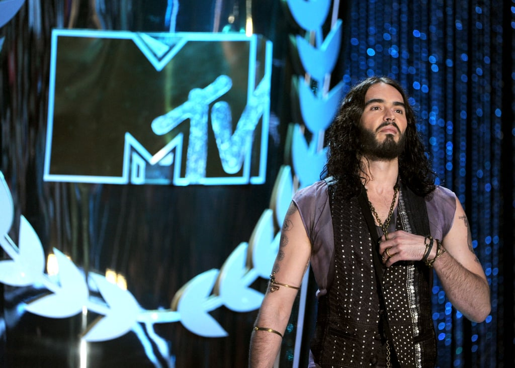 Russell Brand delivered a joke-filled monologue at the top of the show.