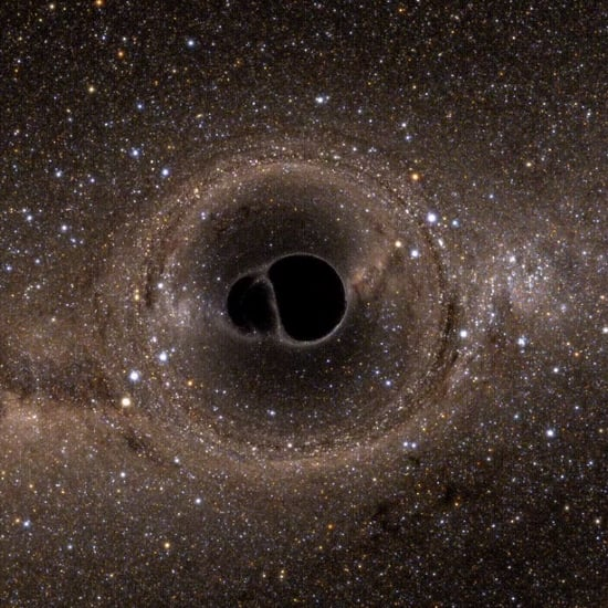 GIF of Two Merging Black Holes