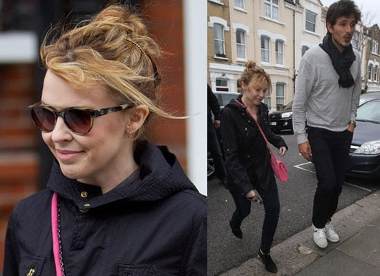 Photos of Kylie Minogue and Boyfriend Andres Velencoso, Ninth Most Inspirational Woman of Decade, Fan of Pineapple Dance Studio