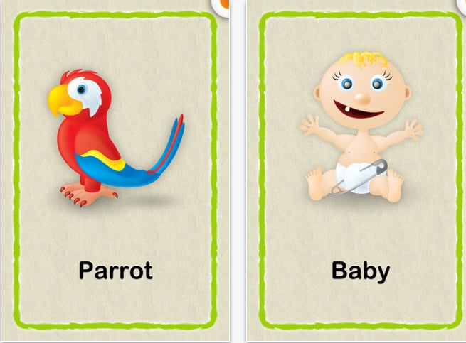 Cute Baby Flash Cards