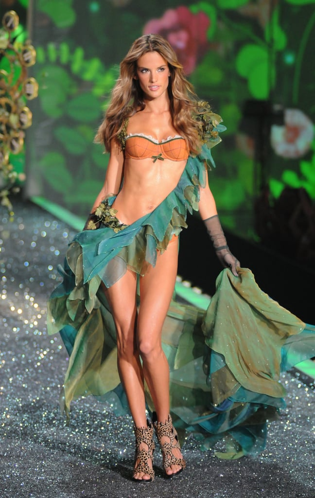 Alessandra channeled an Amazonian princess on the runway in 2009.