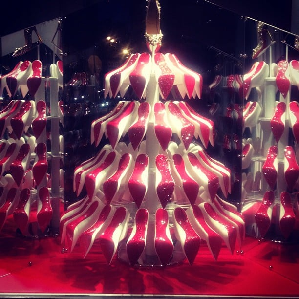 Christian Louboutin trees! Can we have one for Christmas, please? Source: Instagram user samanthawills