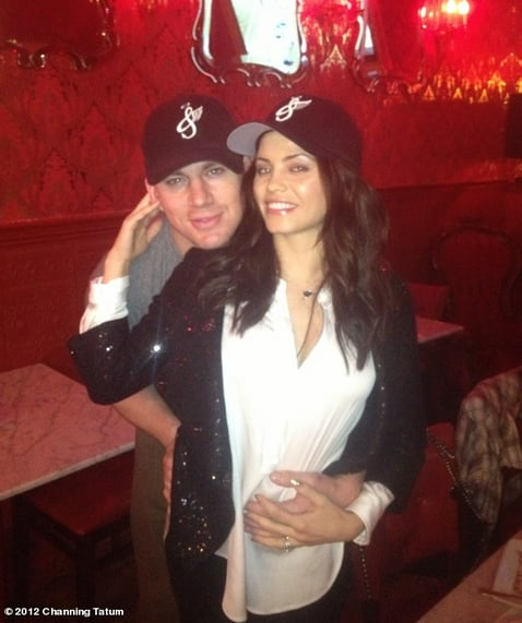 Channing Tatum and his pregnant wife Jenna shared a holiday snap.  Source: Channing Tatum on WhoSay
