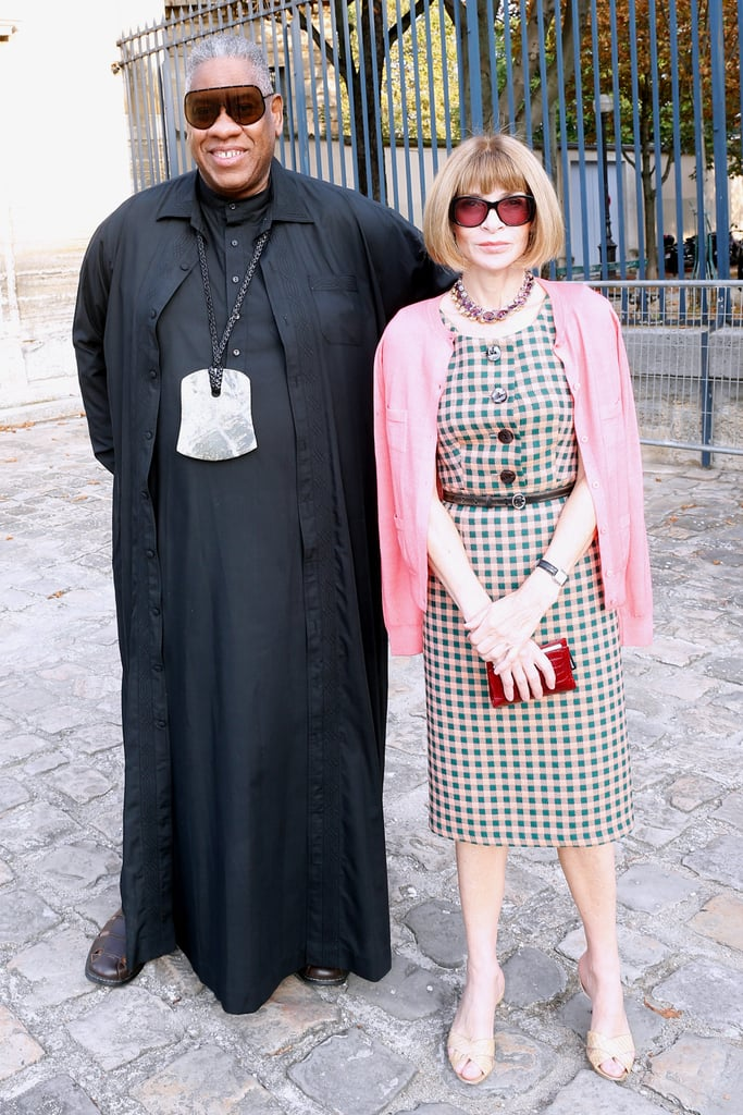 Anna Wintour and André Leon Talley met up on Thursday at the Balenciaga show.