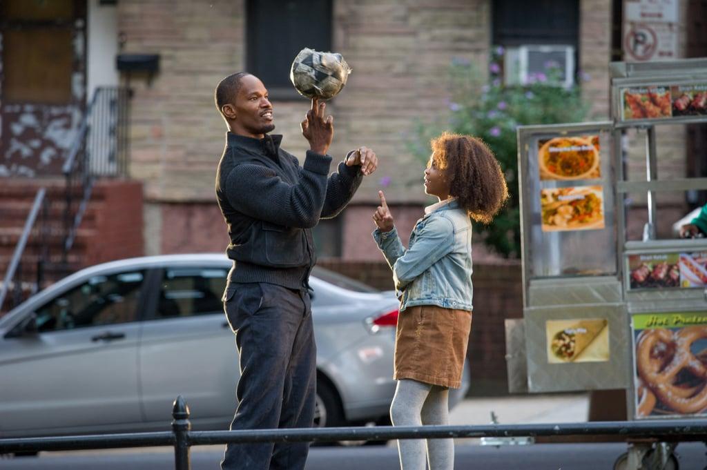 Jamie Foxx and Quvenzhané Wallis star in Annie.