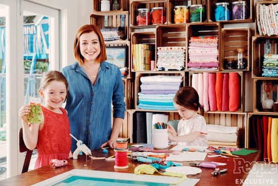 Inside Alyson Hannigan's Hyper-Organized Crafting Room