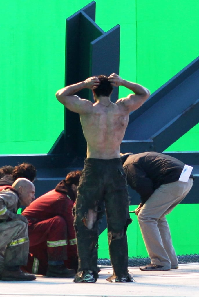 Henry Cavill showed off his hard-earned back muscles.