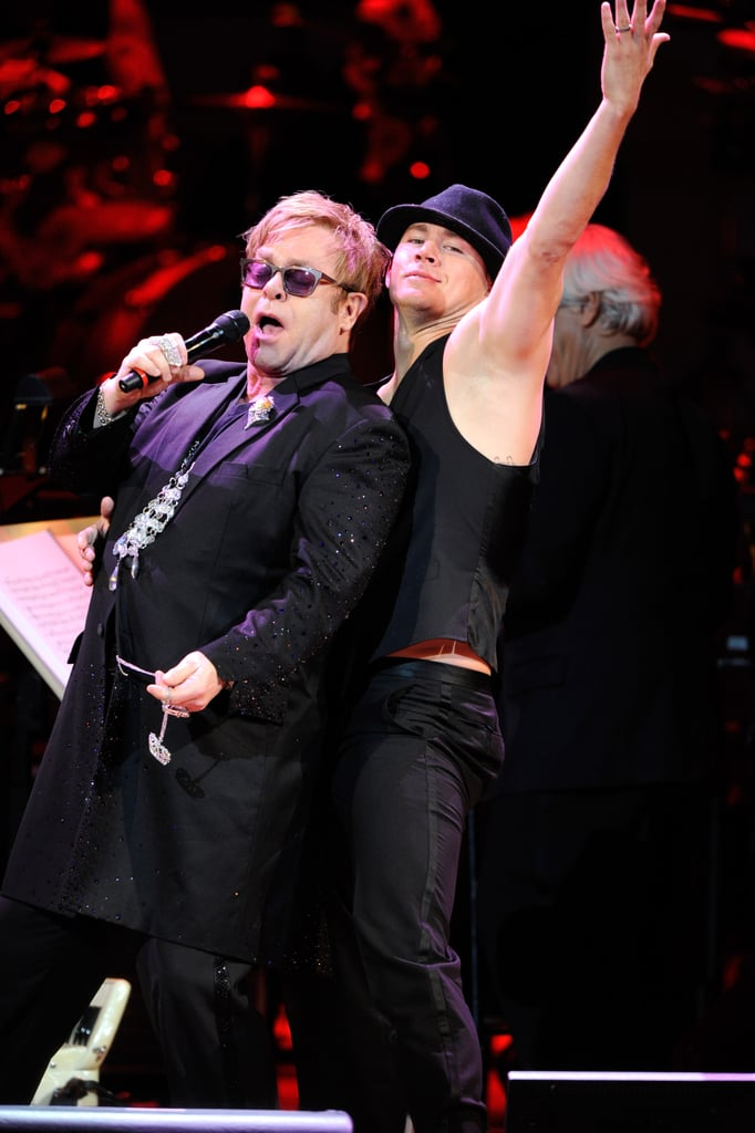 Channing Tatum danced as Elton John belted it out at the Revlon Concert for the Rainforest Fund at Carnegie Hall in NYC.