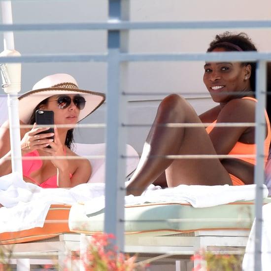 Eva Longoria and Serena Williams Wearing Bikinis in Miami