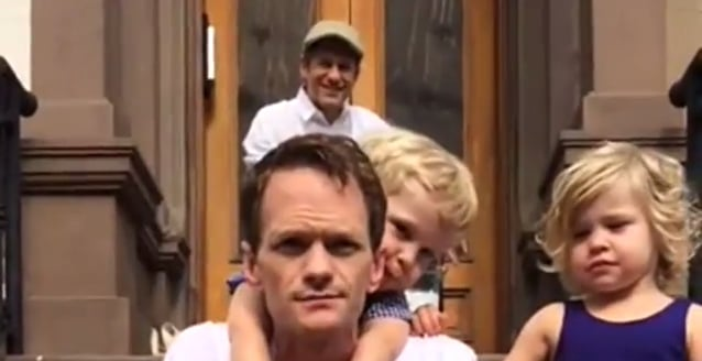 Neil Patrick Harris and His Family Take On the Ice Bucket Challenge, and It's Adorable!