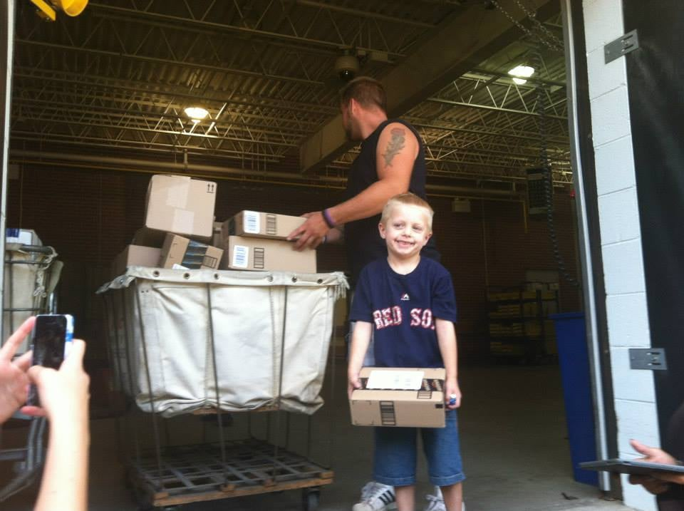 """And as of Wednesday, he had received thousands. """"Todays total rough count was a little over 8500 cards and 900 packages!!! We filled the uhaul completely up! And then filled 3 cars too!"""" it said on his Facebook page. """"We are in awe of all of this, we are speechless and dont have enough words to explain how thankful we are for everyone of you! And all the love that you have shown us and continue to show us!"""" Happy birthday, Danny! Source: Facebook user Danny's Warriors"""