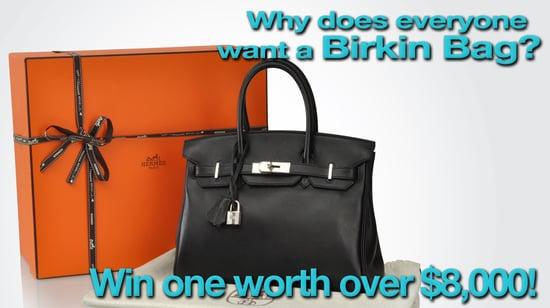 FabSugar.com, Portero.com, The Purse Blog, Hermes Birkin Handbag Giveaway