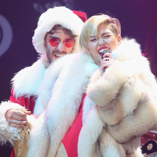 Miley Cyrus Dressed as Mrs. Claus at the Jingle Ball