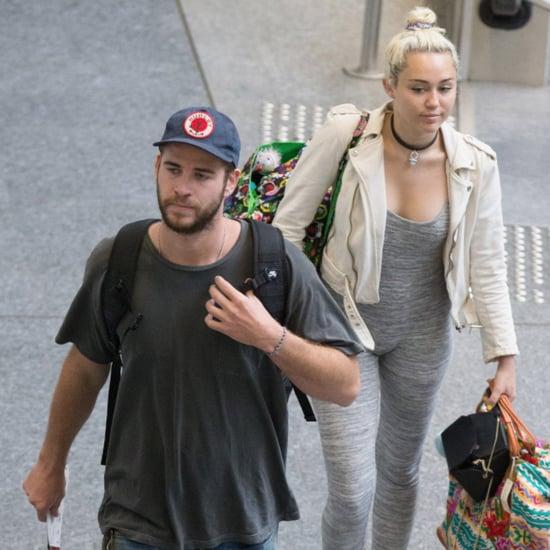 Miley Cyrus Liam Hemsworth Leave Australia May 2016
