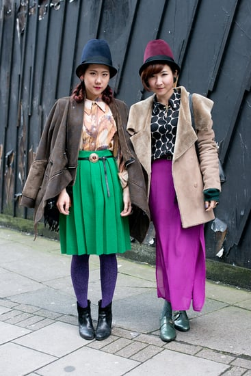 showgoers-kept-coordinated-bold-colors-cloche-hats