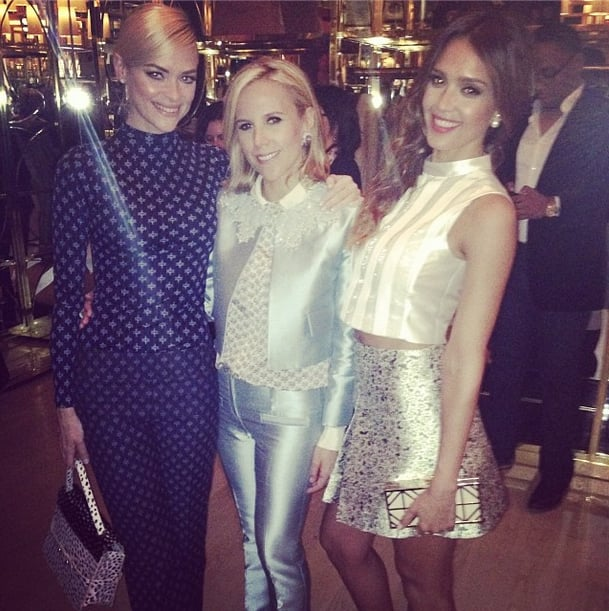 This trendy trio — Jaime King, Tory Burch, and Jessica Alba — seemed to have coordinated their outfits. Source: Instagram user jessicaalba