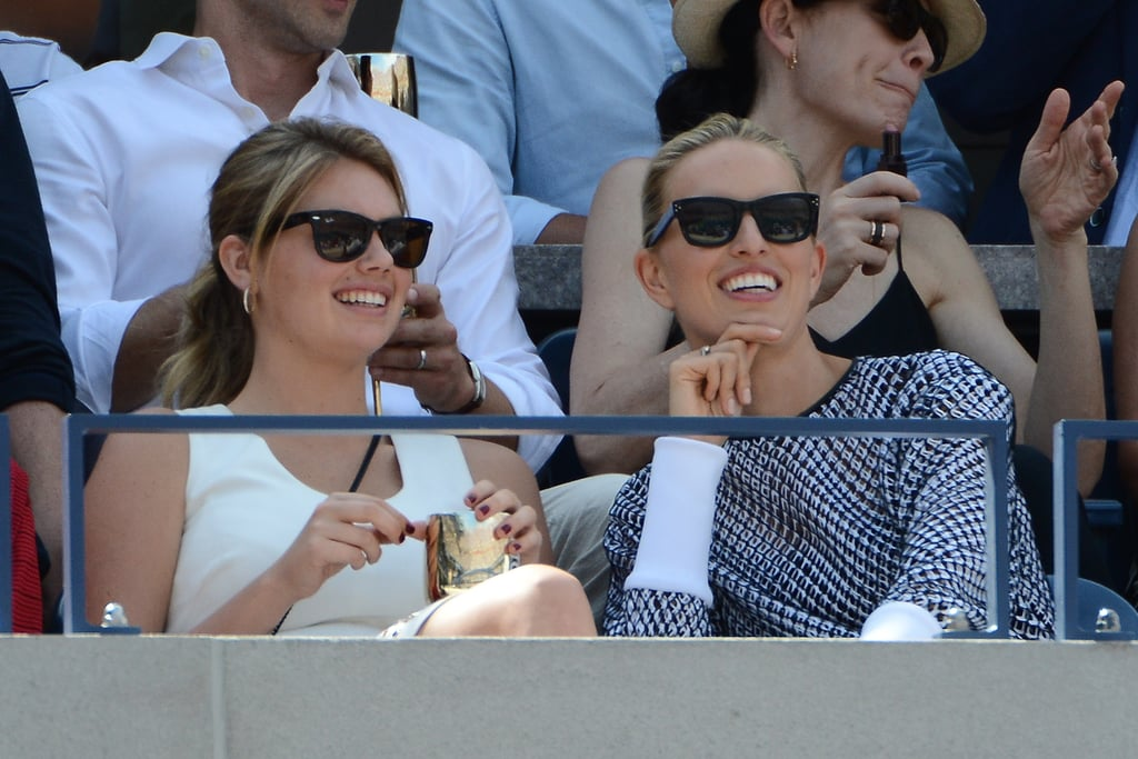 Kate Upton and a print-happy Karolína Kurková hung out in style at the US Open in NYC.