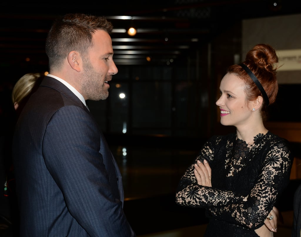 Rachel McAdams happily chatted with Ben Affleck at the LA premiere of To the Wonder in April 2013.
