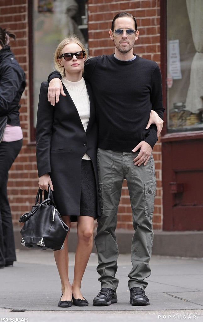 Kate Bosworth and boyfriend Michael Polish went for a walk in the West Village in NYC.
