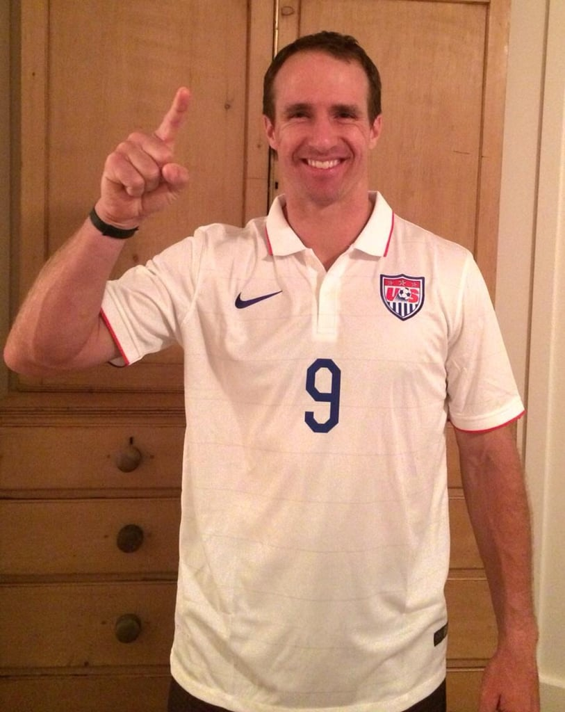 New Orleans Saints quarterback Drew Brees was all smiles in his Team USA jersey. Source: Twitter user drewbrees