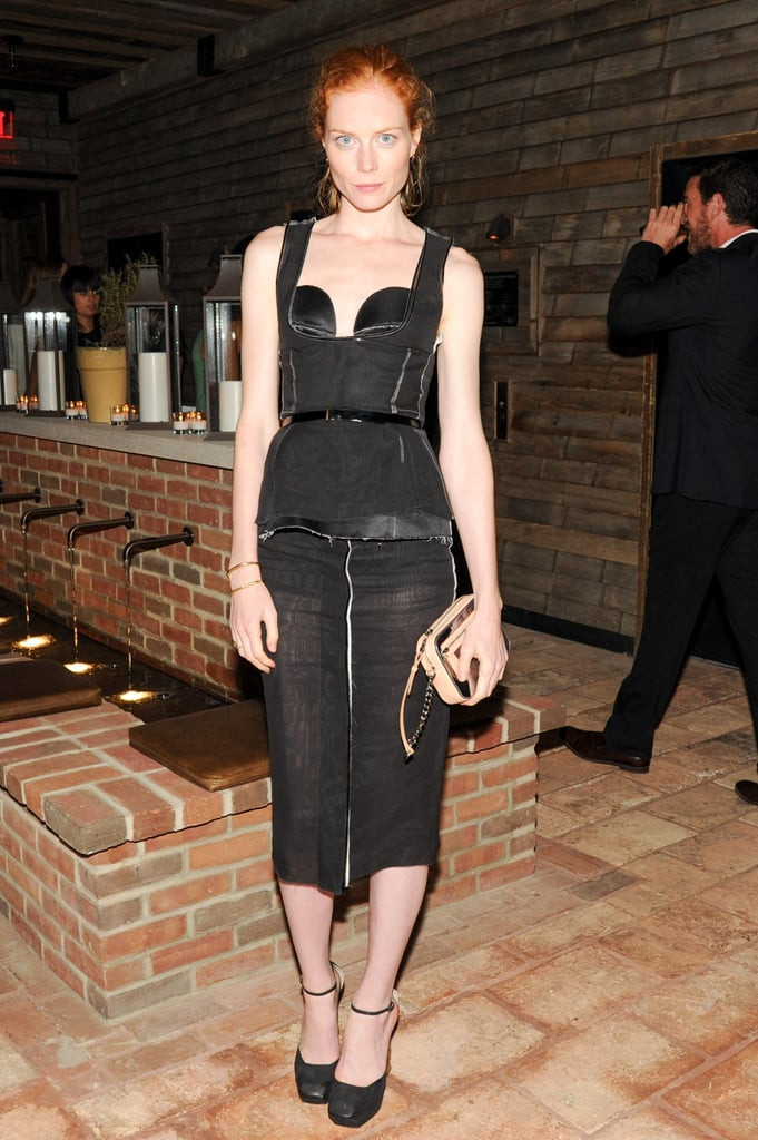 Jessica Joffe joined Calvin Klein for a screening of Ain't Them Bodies Saints in a sculpted black Calvin Klein Collection design.