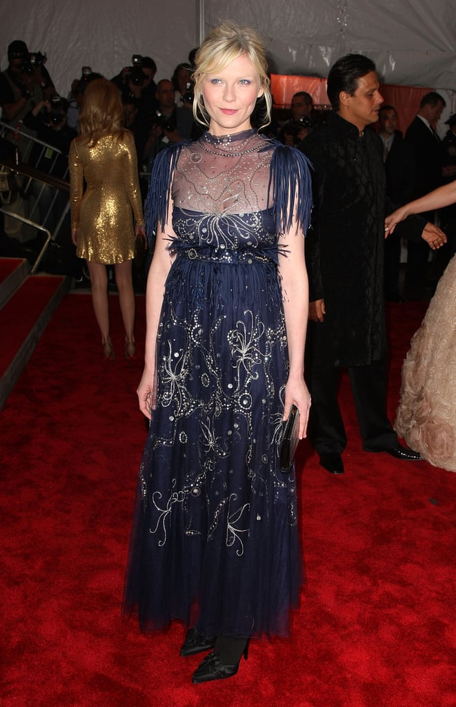 She wore an ultraembellished navy blue Chanel Couture gown to the 2009 Met Gala.