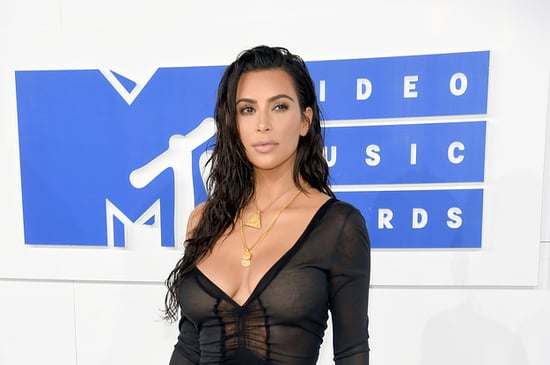 Kim Kardashian Climbed Out Of A Pool And Arrived At The VMAs