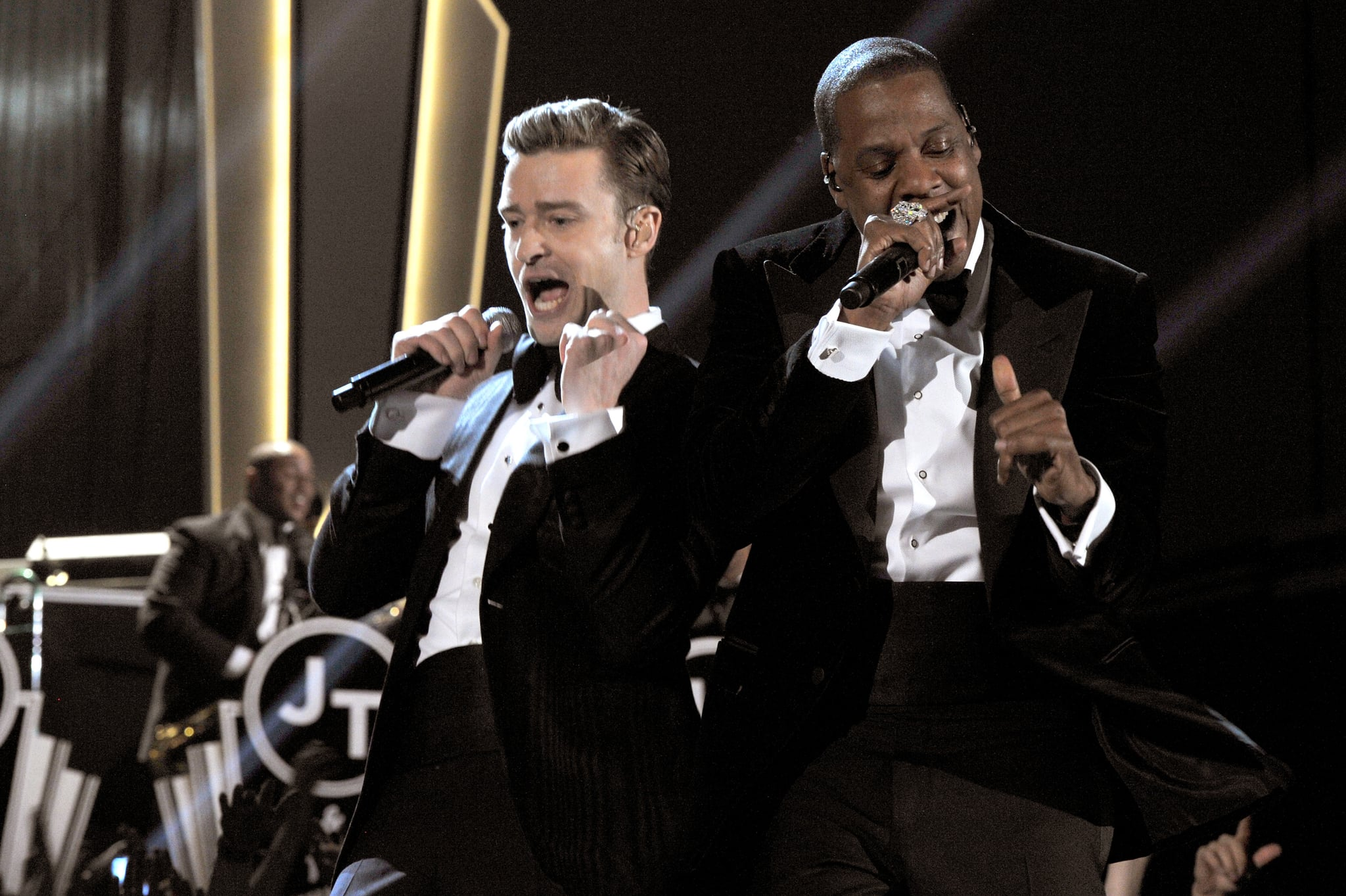 """Justin Timberlake and Jay Z took the 2013 show by storm with their performance of """"Suit & Tie."""""""